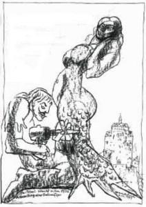 Eind Grafik zur Seejungfrau von Armin Münch
