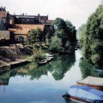 1991-08-Eine Tour durch Havelberg, Blick über den Stadtgraben, Foto-© Heimatverein Havelberg e.V. – Repro fweDESIGN